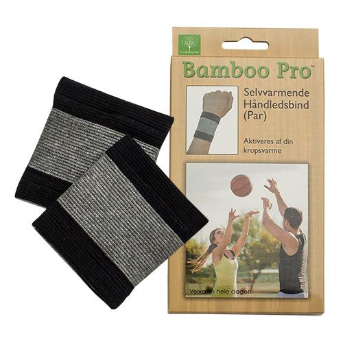 Image of Bamboo Pro Selvvarmende Håndledsbind One Size - 1 stk
