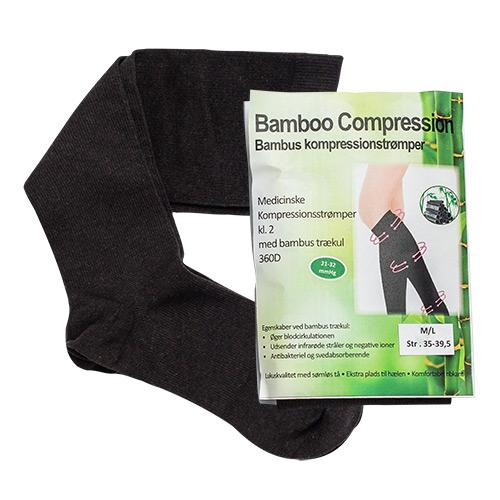 Image of Bamboo Pro Kompressionsstrømper m/Bambus Trækul - 1 Pakk