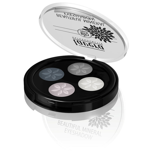 Image of   Lavera Beautiful Mineral Quattro Eyeshadow Smokey Grey 01 Trend - 3 G