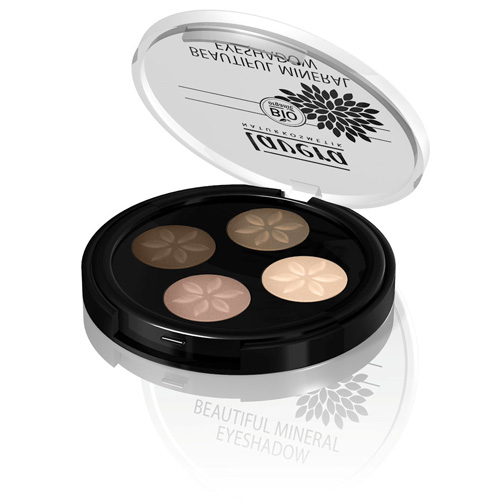 Image of   Lavera Beautiful Mineral Quattro Eyeshadow Cappuccino Cream 02 Trend - 3 G