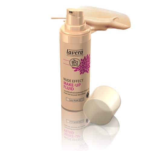 Image of   Nude Effect Make-up Fluid Ivory Nude 02 Lavera - 30 ml