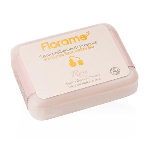 Image of   Florame Håndsæbe Rose fra Provence - 100 G