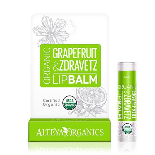 Image of Alteya Organics Lipbalm Grapefruit Zdravetz - 5 G