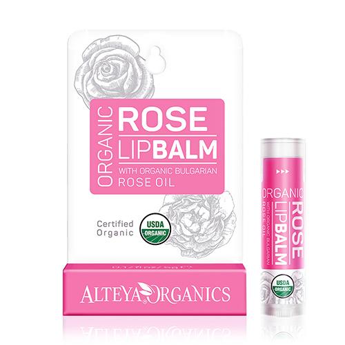 Image of Alteya Organics Lipbalm Bulgarian Rose Oil - 5 G