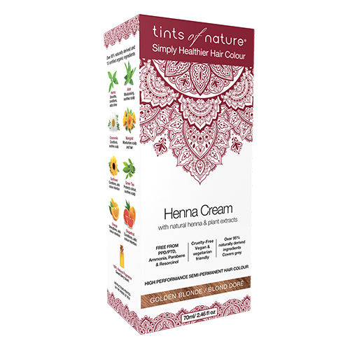 Billede af Tints of Nature Hårfarve Henna Creme Golden Blonde - 70 ml