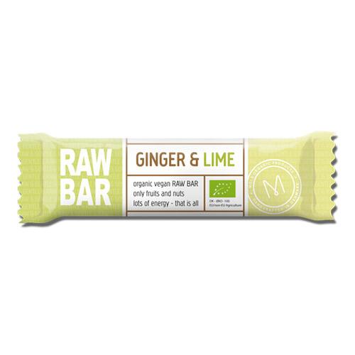 Billede af Mols Organic Raw Bar Ginger & Lime Ø - 45 G