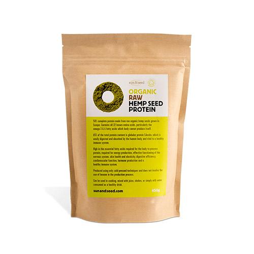 sun & seed hamp proteinpulver fra Mecindo