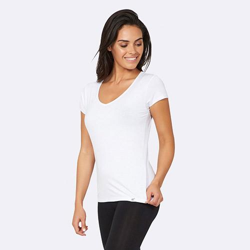 Image of   Boody T-shirt Dame Hvid V-hals Str. XL - 1 stk