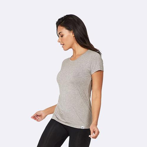 Image of   Boody T-shirt Dame Lys Grå Rund Hals Str. XL - 1 stk