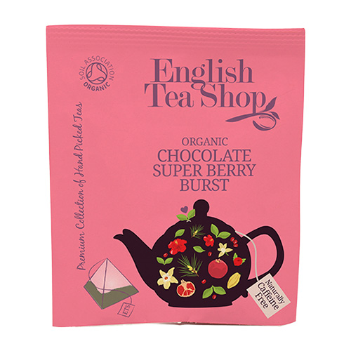 Image of   English Tea Shop Chocolate Super Berry Burst Ø Tea - 50 Breve - 1 Pakk