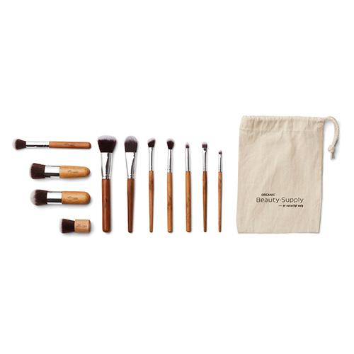 Image of   Makeup Børster Og Penselsæt 11 Stk Med Bambus Skaft - 1 stk