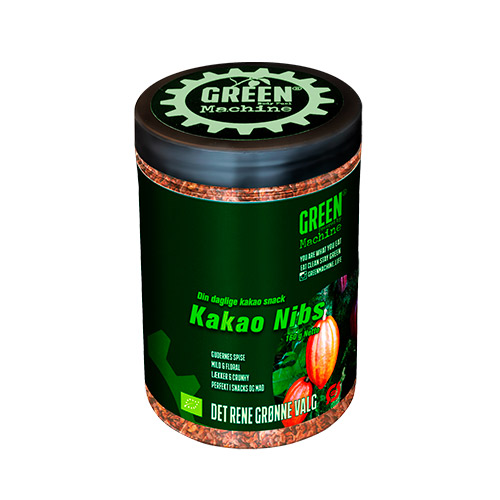 Green Machine kakao nibs fra Mecindo