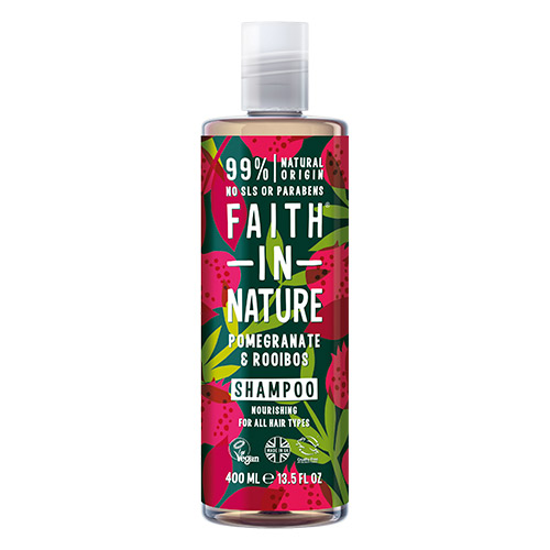 Image of   Faith in Nature Shampoo Granatæble & Rooibos - 400 ml