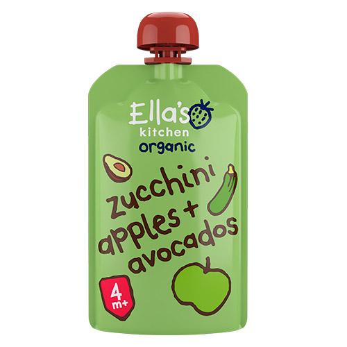 Billede af Ellas Kitchen Babymos Courgette, Æble & Avocado 4 Mdr Ø - 120 G