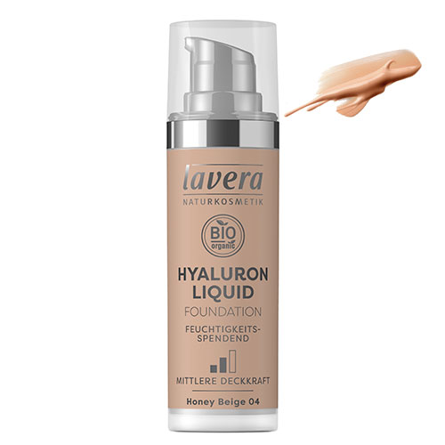 Billede af Lavera Foundation Honey Beige 04 Hyaluron Liquid - 30 ml