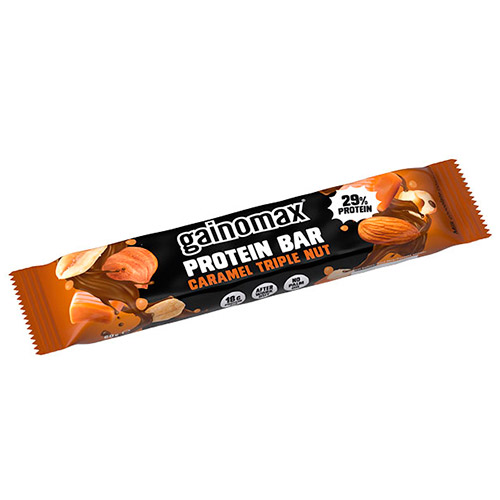 Image of   Gainomax Protein Bar Caramel Triple Nut - 60 G