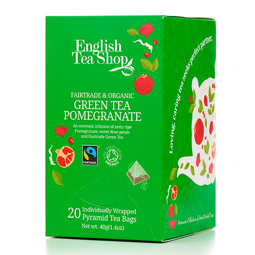 Image of   English Tea Shop Green Tea Pomegranate Ø - 20 Brev