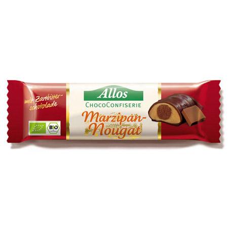 Image of Allos Chokolade Marcipan & Nougat Bar Ø - 35 G