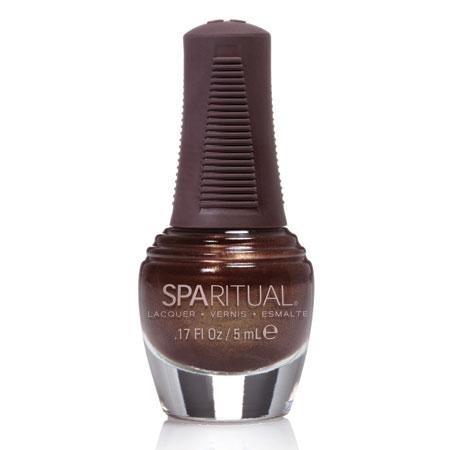Image of   SpaRitual Neglelak Mini - Mørkebrun Perlemor 88127 - 5 ml