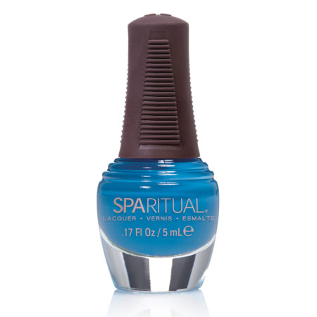 Image of   SpaRitual Neglelak Mini - Turkisblå 88371 - 5 ml