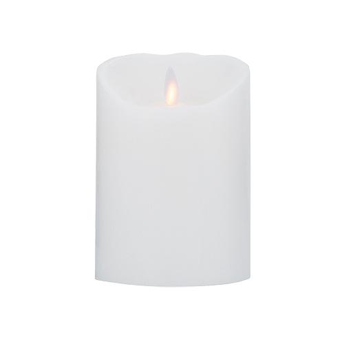 Image of   LeveLys LED Stearinlys Ø8x12,5 cm hvid glat - 1 stk