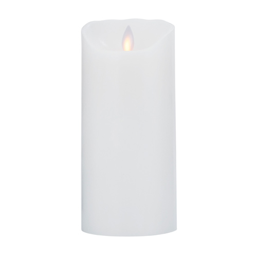 Image of   LeveLys LED Stearinlys Hvid Glat - 1 stk - 8 cm