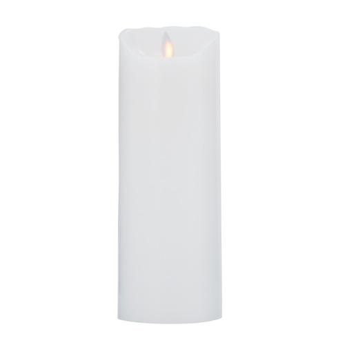 Image of   LeveLys LED Stearinlys Ø8x23cm Hvid glat - 1 stk - 8 cm