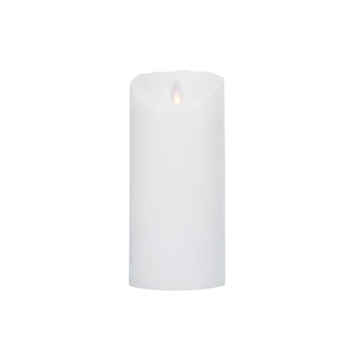 Image of   LeveLys LED Stearinlys Ø8x18cm hvid frostet - 1 stk