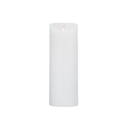 Image of   LeveLys LED Stearinlys Ø8x23cm hvid frostet - 1 stk