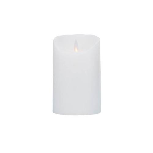 Image of   LeveLys LED Stearinlys Ø8x12,5 hvid frostet - 1 stk