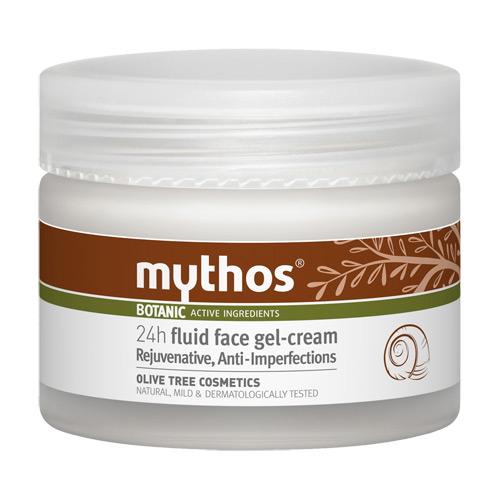 Billede af Mythos 24h Fluid Rejuvenative Face Gel Cream Olive + Snail - 50 ml