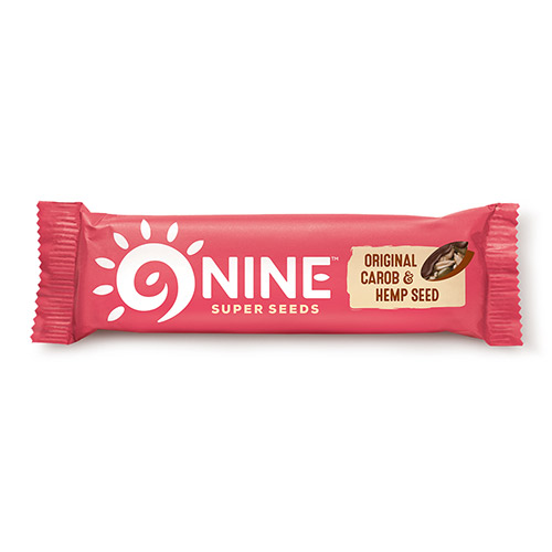 Image of   9Brand Foods 9NINE bar original m. carob overtræk - 40 G