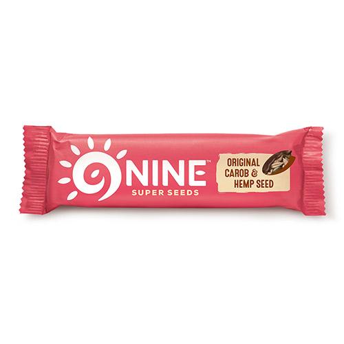 9Brand Foods 9NINE bar original m. carob overtræk - 40 G
