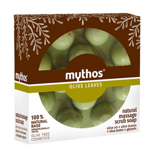 Billede af Mythos Natural Massage Scrub Soap Olive Leaves - 100 ml