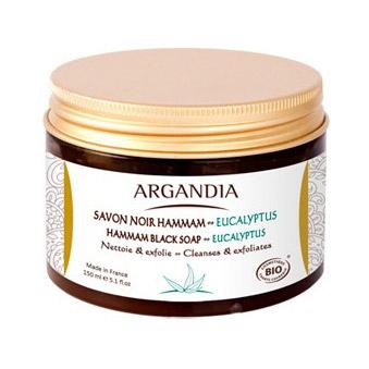 Image of Argandia Hamman Black Soap Eucalyptus - 150 ml