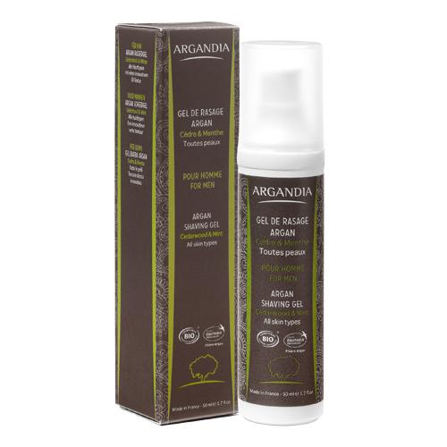 Image of Argandia Argan Shaving Gel Cedar & Mint - 50 ml