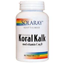Image of   Solaray KoralKalk med vit. C og D tyggetablet - 90 Tabl