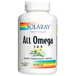 Image of   Solaray All Omega 3-6-9 - 90 Kaps