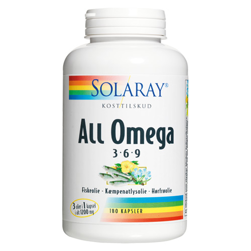 Image of   Solaray All Omega 3-6-9 - 180 Kaps