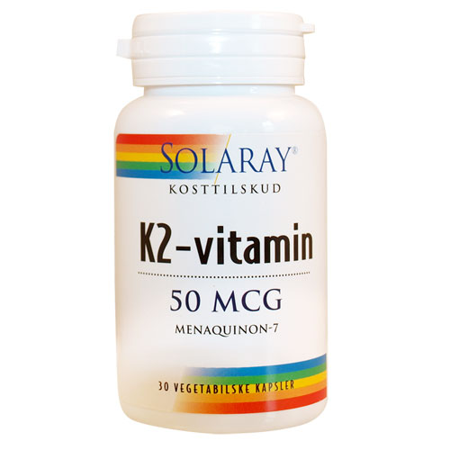Image of   Solaray K2-vitamin 50 mcg - 30 Kaps