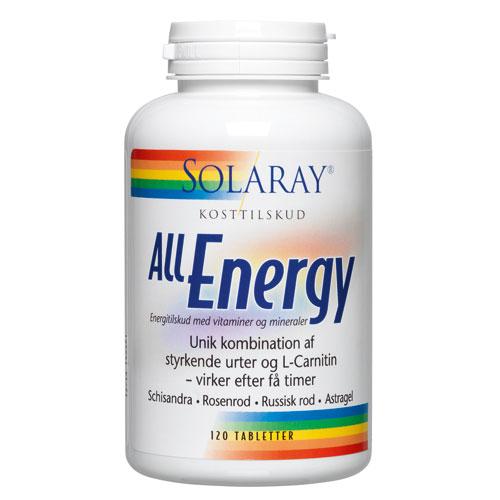 Image of   Solaray All Energy - 120 Tabl