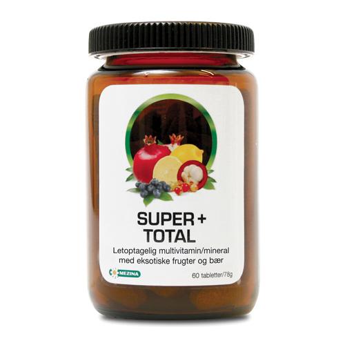 Billede af Mezina Super+ Super+ Total Multivitamin, Mineral - 60 Tabl