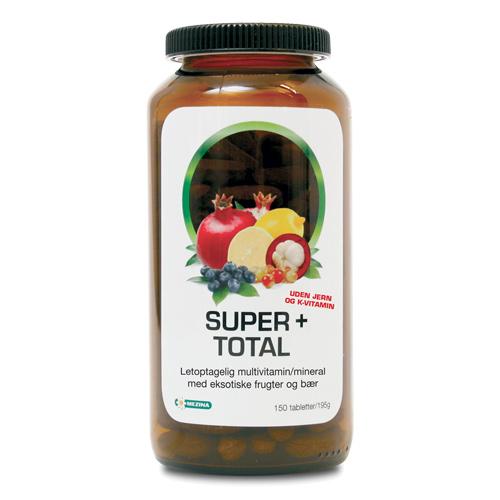 Billede af Mezina Super+ Super+ Total Vit, Min.u.jern Og K-vitami - 150 Tabl