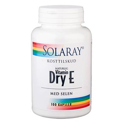 Image of   Solaray Dry E-vitamin m. Selen - 100 Kaps
