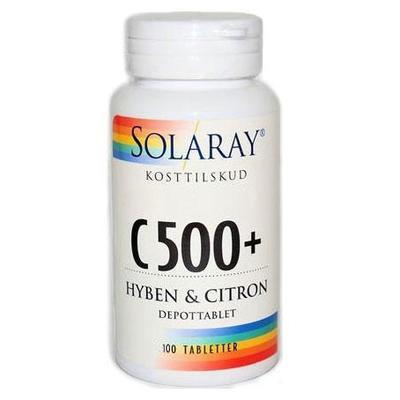 Image of   Solaray C-vitamin C500+ - 100 Tabl