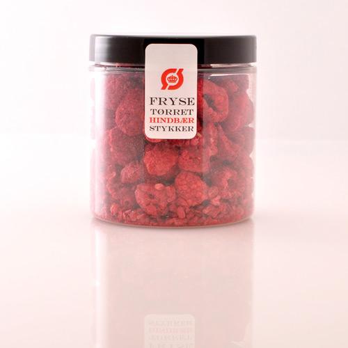 Hindbær stykker frysetørret Ø - 35 G