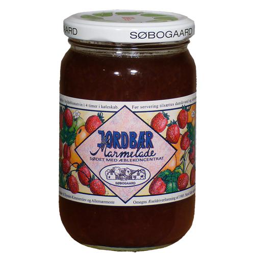 Image of   Jordbærmarmelade sødet m æbleØ - 390 G