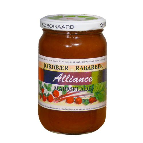 Image of   Jordbær/rabarber marmelade Ø - 400 G