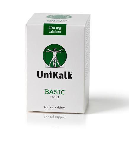 UniKalk Basic Calcium - 400 mg - 180 Tabl
