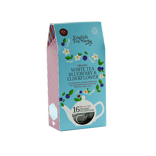 Image of   English Tea Shop White Tea Blueberry & Elderflower Ø - 16 Brev